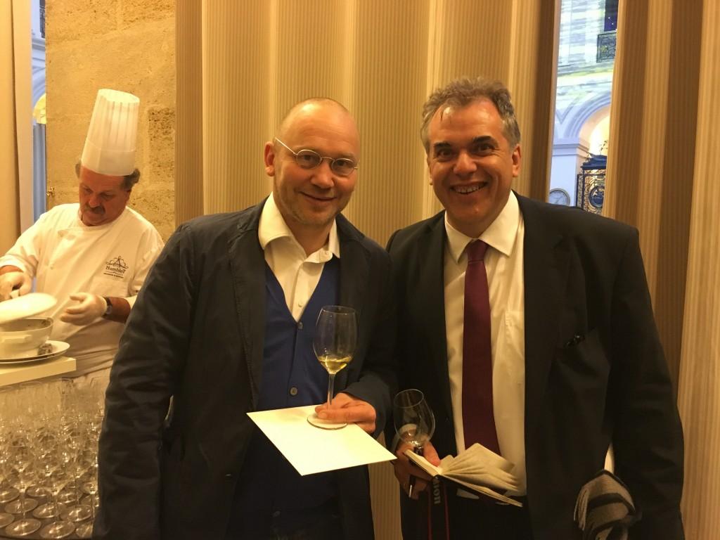 Meine Mitstreiter des Primeur-Marathons: Guido Walter & Dirk Behrens